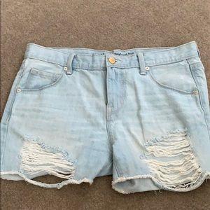 Mossimo Distressed Midi Shorts